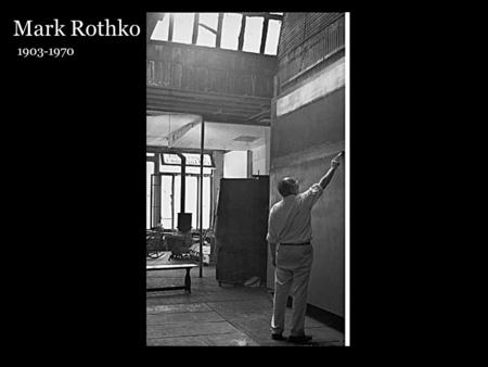 Mark Rothko 1903-1970. Mark Rothko Color field paintings are defined by solid areas of color that cover the whole canvas. Color field art is a type.