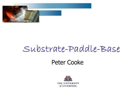 Substrate-Paddle-Base Peter Cooke. Peter Cooke 28 Feb - 1 March 2006 - VELO PRR2 Substrate- Paddle-Base Substrate Production Paddle – Base – Feet Component.