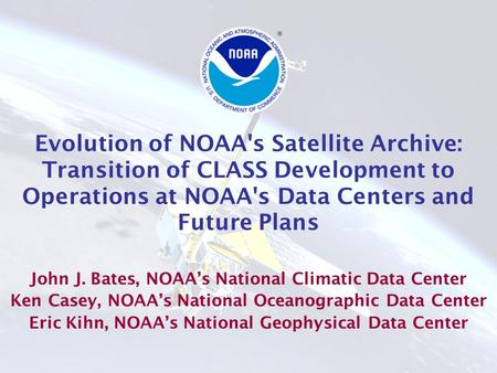 1 Next Generation of Operational Earth Observations From the National Polar-Orbiting Operational Environmental Satellite System (NPOESS): Program Overview.