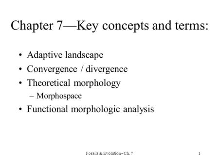 Chapter 7—Key concepts and terms: