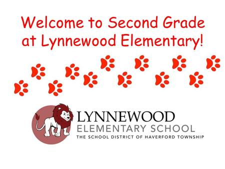 Welcome to Second Grade at Lynnewood Elementary!.