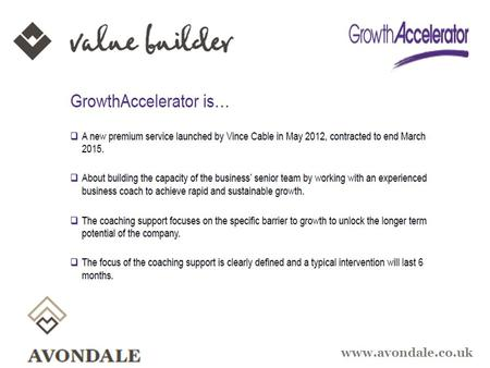 Www.avondale.co.uk. Strategies for Driving Equity Value Stewart Millington - Value Builder Avondale www.avondale.co.uk.
