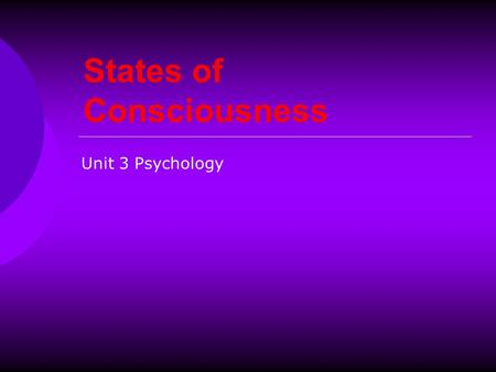 defining consciousness and the different levels of consciousness This lesson will go over several different levels of consciousness and define these terms: consciousness, unconsciousness, confusion, delirium.