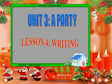 PRE - WRITING On what occasions are parties held? What kind of clothes do people often wear at a party? What kinds of presents do people often bring.