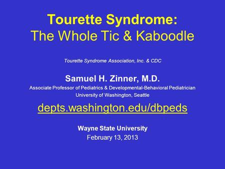a description of the tourette syndrome from dr george gilles de la tourettes discovery French neurologist georges gilles de la tourette first described the condition that bears his name, a name familiar to  professional lifetime, tourette syndrome (ts) is, in fact, common enough that virtually all pediatricians will have several patients with this condition in their  from the time of its initial medical description in 1885.