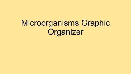 Microorganisms Graphic Organizer. MICROORGANISMS ARE HELPFUL…….. Break down dead matter and recycle nutrients (decomposers) An important source of oxygen.