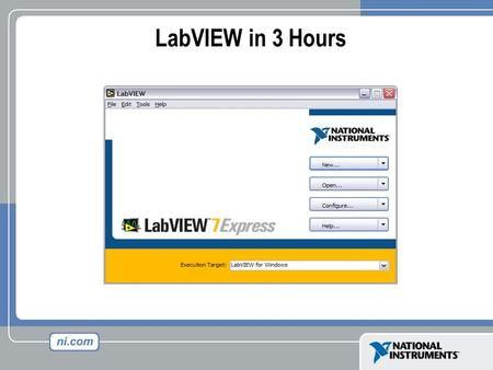 LabVIEW in 3 Hours. What is Test & Measurement? Keypad Functionality Keypad Functionality LCD Testing LCD Testing Sound Quality Sound Quality Acoustic.
