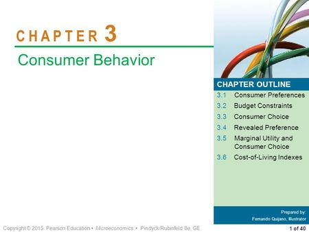 C H A P T E R 3 Consumer Behavior CHAPTER OUTLINE