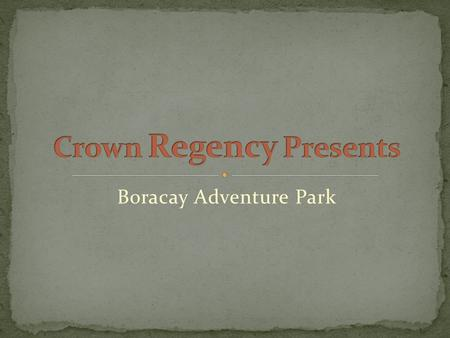 Boracay Adventure Park. Two Hectares strategically located in Central Boracay behind the Crown Regency Resort & Convention Center with access at the main.