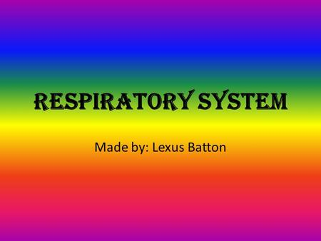 Respiratory system Made by: Lexus Batton. Chronic Bronchitis: Any irritant reaching the bronchi and bronchioles will stimulate an increased secretion.