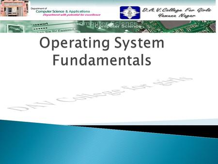 ◦ What is an Operating System? What is an Operating System? ◦ Operating System Objectives Operating System Objectives ◦ Services Provided by the Operating.