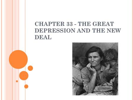 Essay about the great depression and the new deal