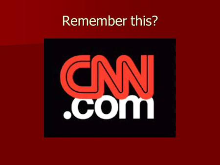 Remember this?. What famous event is shown here?