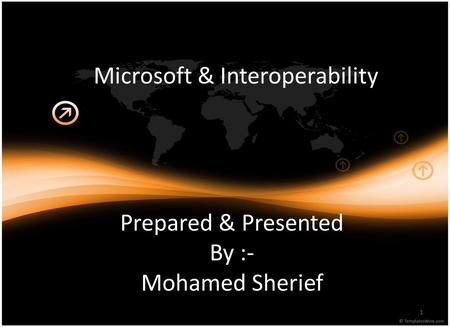 Microsoft & Interoperability 1 Prepared & Presented By :- Mohamed Sherief.