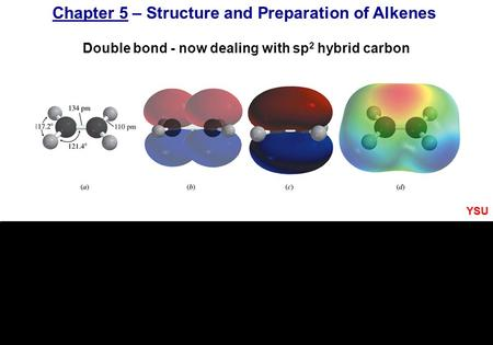 Chapter 5 – Structure and Preparation of Alkenes