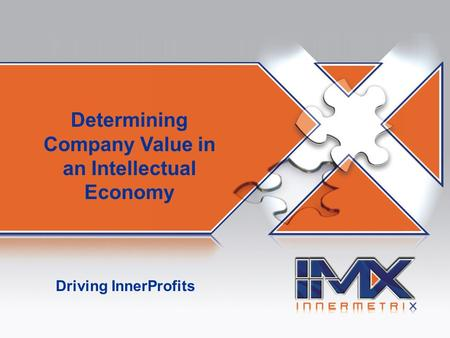 AIM! Asset Identification and Maximization Driving InnerProfits Determining Company Value in an Intellectual Economy.