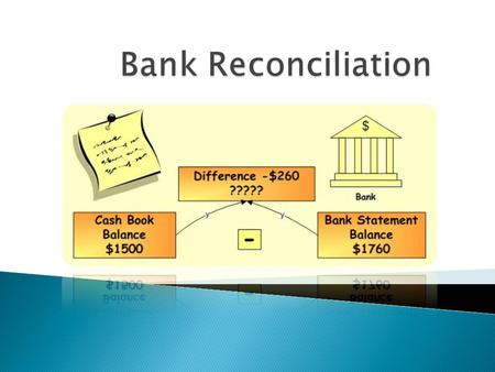  Bank reconciliation statement is a report which compares the bank balance as per company's accounting records with the balance stated in the bank statement.