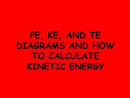 how to calculate change in kinetic energy