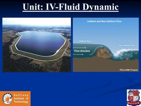 Unit: IV-Fluid Dynamic
