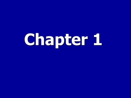 Chapter 1. Introduction to Managerial Accounting.
