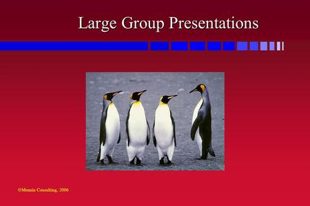  Mennin Consulting, 2006 Large Group Presentations.