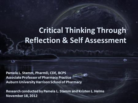 critical thinking involves self-reflection