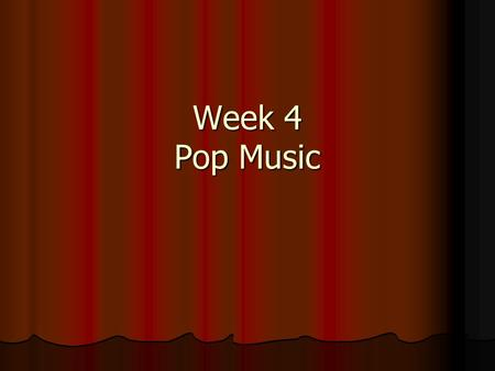 Week 4 Pop Music. How are you?----What ' s up? New Questions: -How was your holiday? --Good.--Bad. --Not bad. -What did you do for the holiday? --Not.