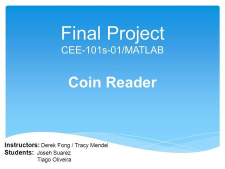 Final Project CEE-101s-01/MATLAB