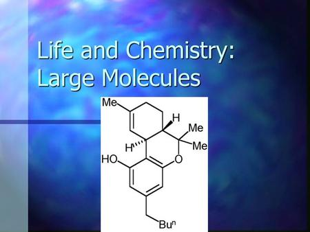 Life and Chemistry: Large Molecules. Macromolecules monomers are linked together to form polymers monomers are linked together to form polymers dehydration.