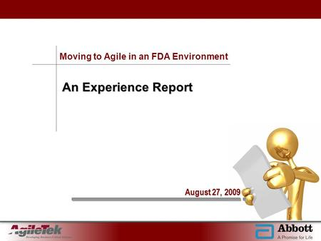 Moving to Agile in an FDA Environment
