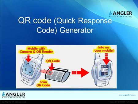QR code (Quick Response Code) Generator. A QR Code is a matrix code (or two- dimensional bar code) created by Japanese corporation Denso-Wave in 1994.