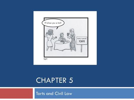 Chapter 5 Torts and Civil Law.