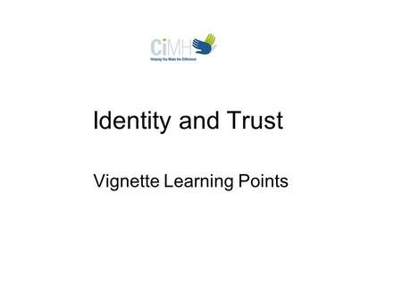 Identity and Trust Vignette Learning Points. Barika experiences PTSD symptoms, including flashbacks of dead soldiers and body parts, sleeplessness, nightmares,