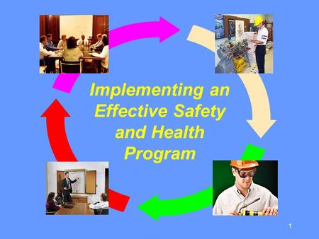 1 Implementing an Effective Safety and Health Program.