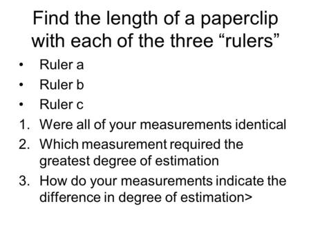 the uncertainties of using a ruler Introduction to evaluating uncertainty of measurement (according to gum) with a simple worked example  for the uncertainties an understanding of basic statistics .