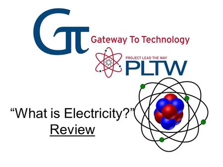 """What is Electricity?"" Review. Atomic Structure What is an Element?"