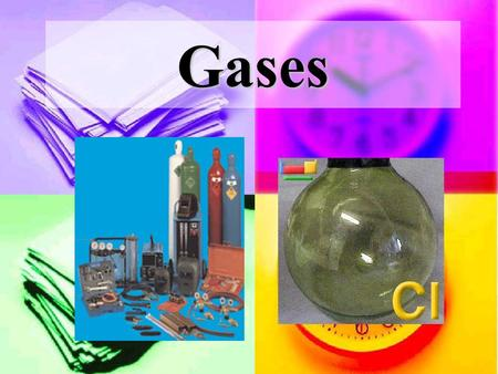 Gases. I.Real Gases (we will not study these much) A. Do NOT apply the Kinetic Molecular Theory 1. The particles in a real gas can NOT be thought of as.