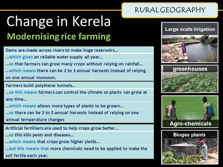 Modernising rice farming Large scale irrigation