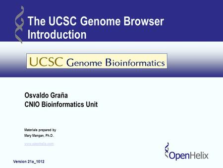 The UCSC Genome Browser Introduction