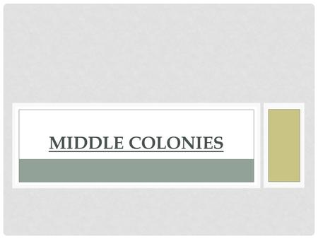 MIDDLE COLONIES. NEW YORK Proprietary Colony: Colony in which the owner, or proprietor, owns all the land and controls the government Taken from the Netherlands.