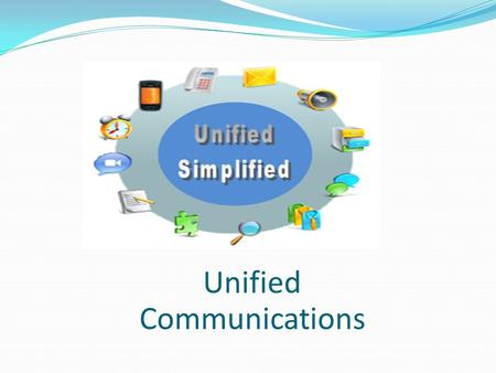 Unified Communications. Unified Simplified Team Members & Collaboration Tools Sally Loies Jeff Newton Haidar A. AlMubarak Grzegorz Walukanis.