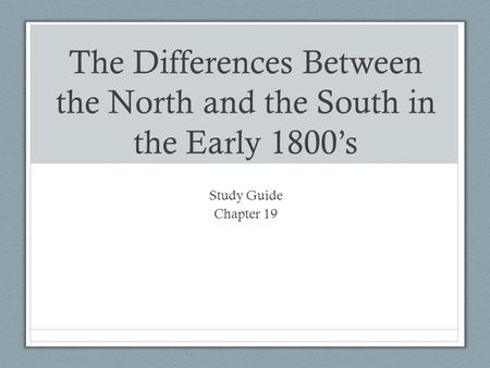 "differences between north and south essay The reconstruction era: conflict between the north and conflict between the north and the south essay the ""civil war"" is a different kind of war."
