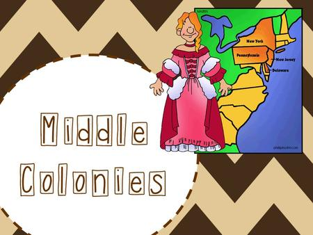 Middle Colonies. Colonies New York Pennsylvania New Jersey Delaware.