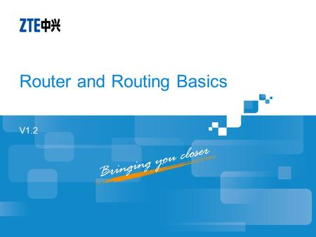 Router and Routing Basics
