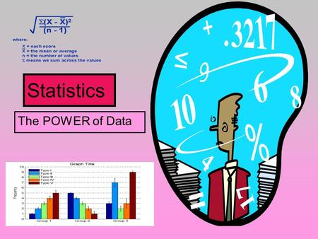 Statistics The POWER of Data. Statistics: Definition Statistics is the mathematics of the collection, organization, and interpretation of numerical data.