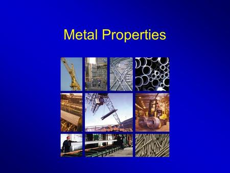 Metal Properties. Question 1 Use the information in the table to help you to answer this question. Match words from the list with the numbers 1– 4 in.