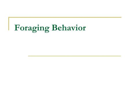 foraging behaviour in tadpoles of the Ms-222 impacted foraging behavior avoidance reaction in tadpoles (manteifel 2006) eutrophication results from high levels of nitrogen (eg.