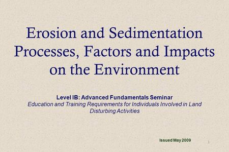 Level IB: Advanced Fundamentals Seminar