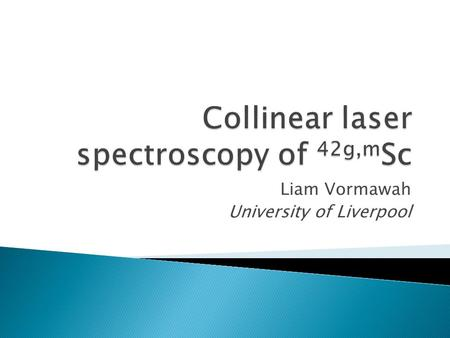 Collinear laser spectroscopy of 42g,mSc