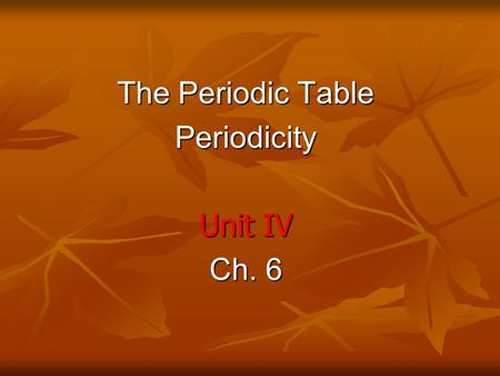 The Periodic Table Periodicity Unit IV Ch. 6. Pictionary Words Period Atomic radius Group Transition metal Metal Reactivity Metal Reactivity Metalloid.